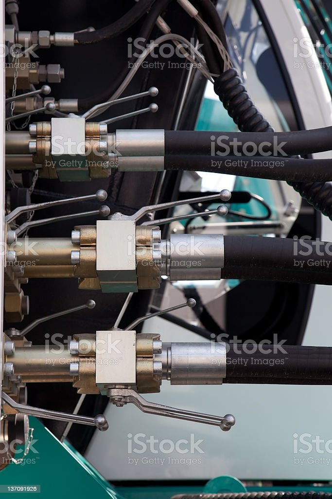 hydraulic detail stock photo