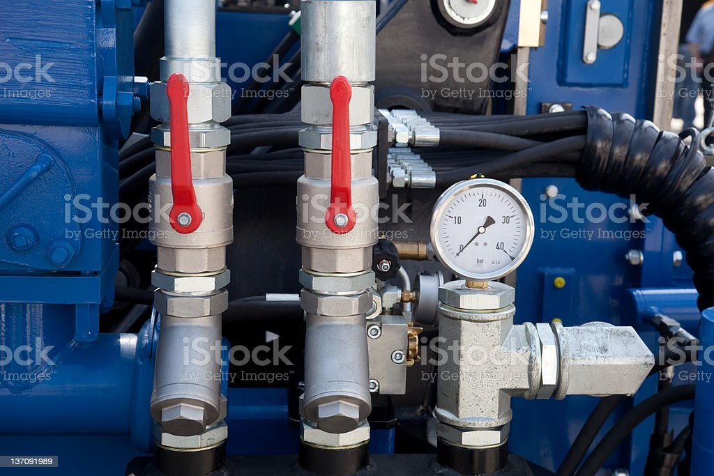 hydraulic detail stock photo