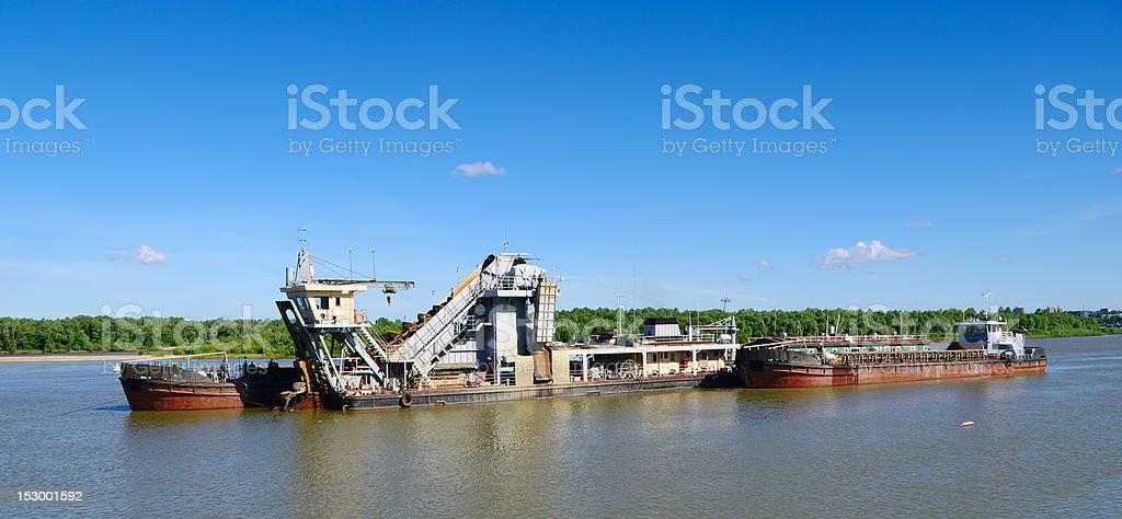 hydraulic dredge stock photo
