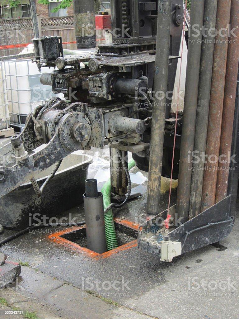 Hydraulic Drill rig stock photo