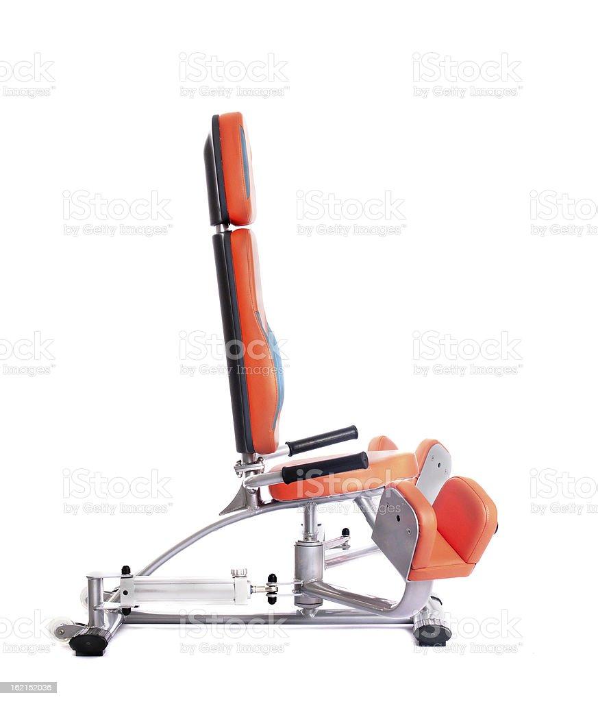 Hydraulic exerciser. Isolated on white royalty-free stock photo