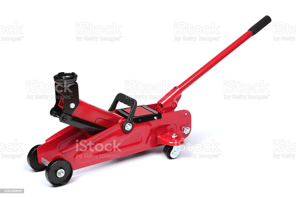 Hydraulic floor jack stock photo