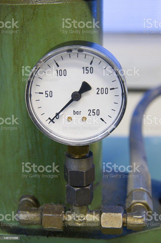 Hydraulic gauge royalty-free stock photo