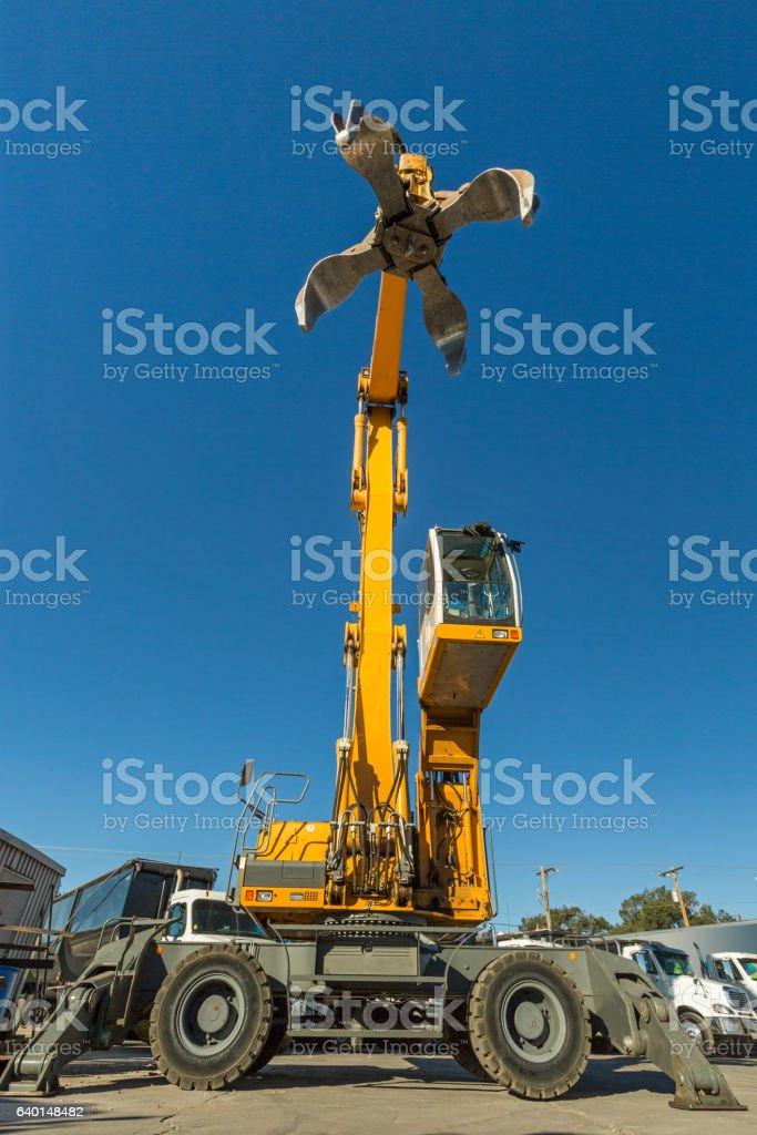 Hydraulic grapple stock photo