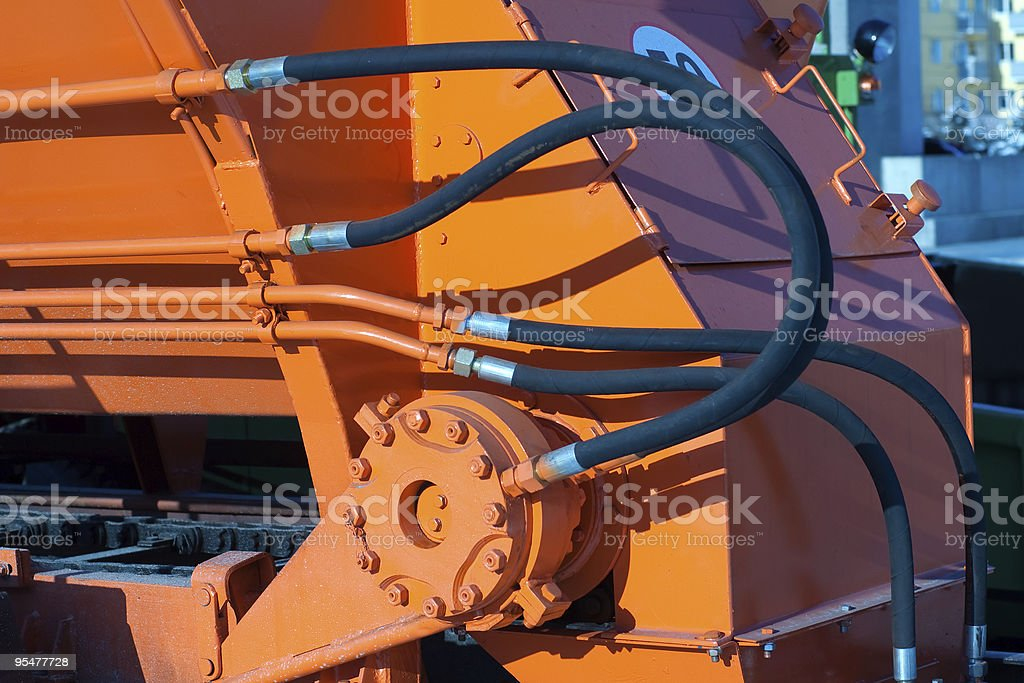Hydraulic hoses of tractor royalty-free stock photo