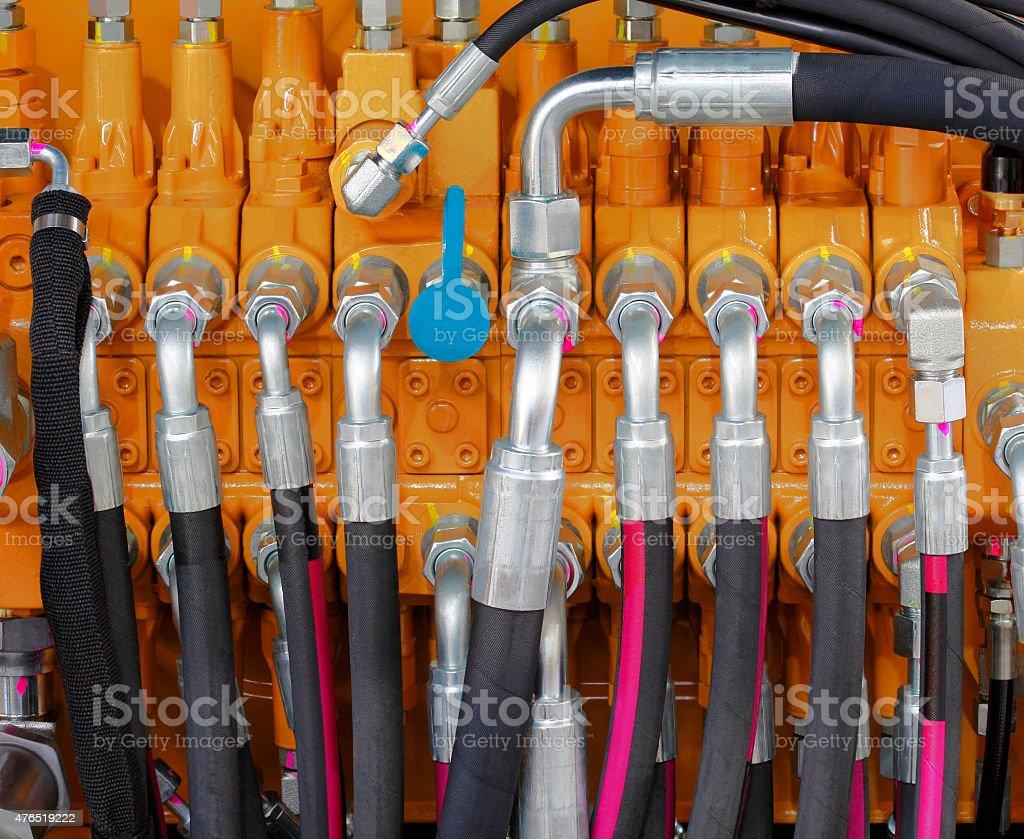 Hydraulic Hoses stock photo