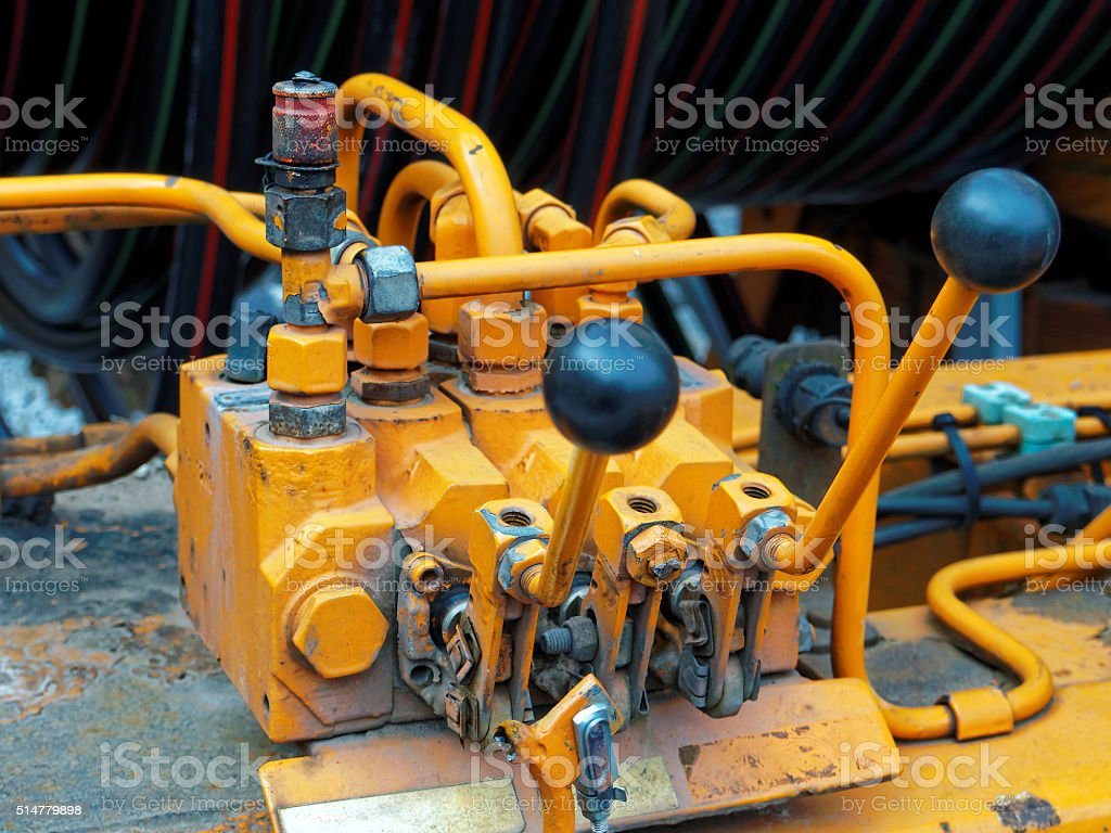 hydraulic lever stock photo