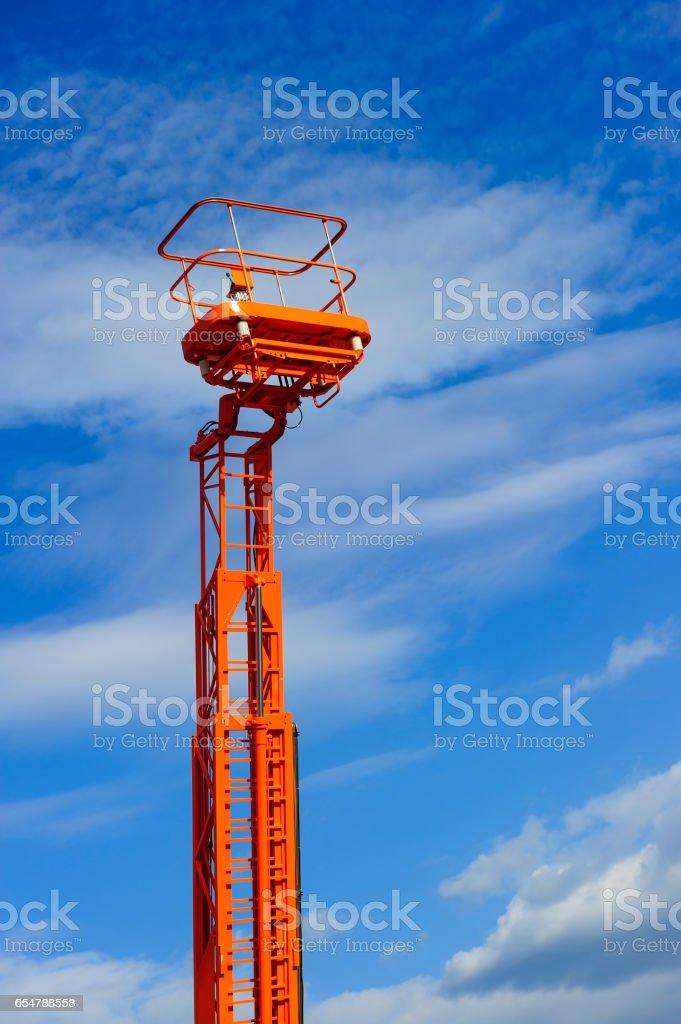 Hydraulic lift platform stock photo