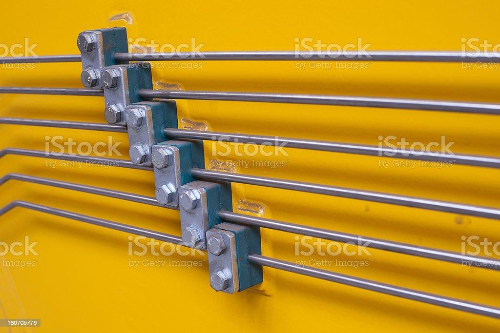 Hydraulic lines stock photo