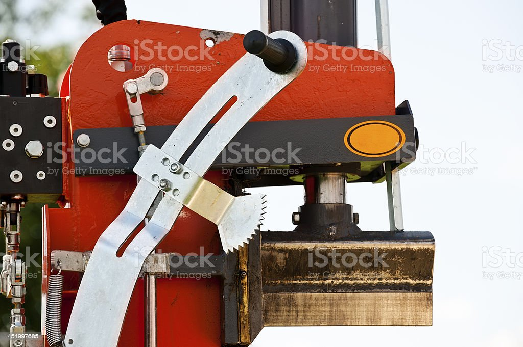 Hydraulic log splitting machine royalty-free stock photo