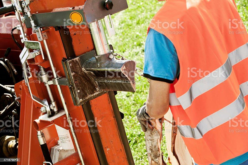 Hydraulic log splitting machine royalty-free stock photo