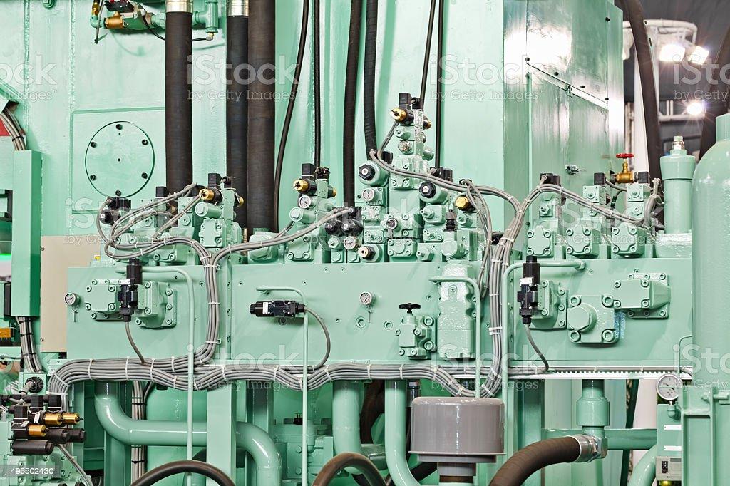 Hydraulic Machine stock photo