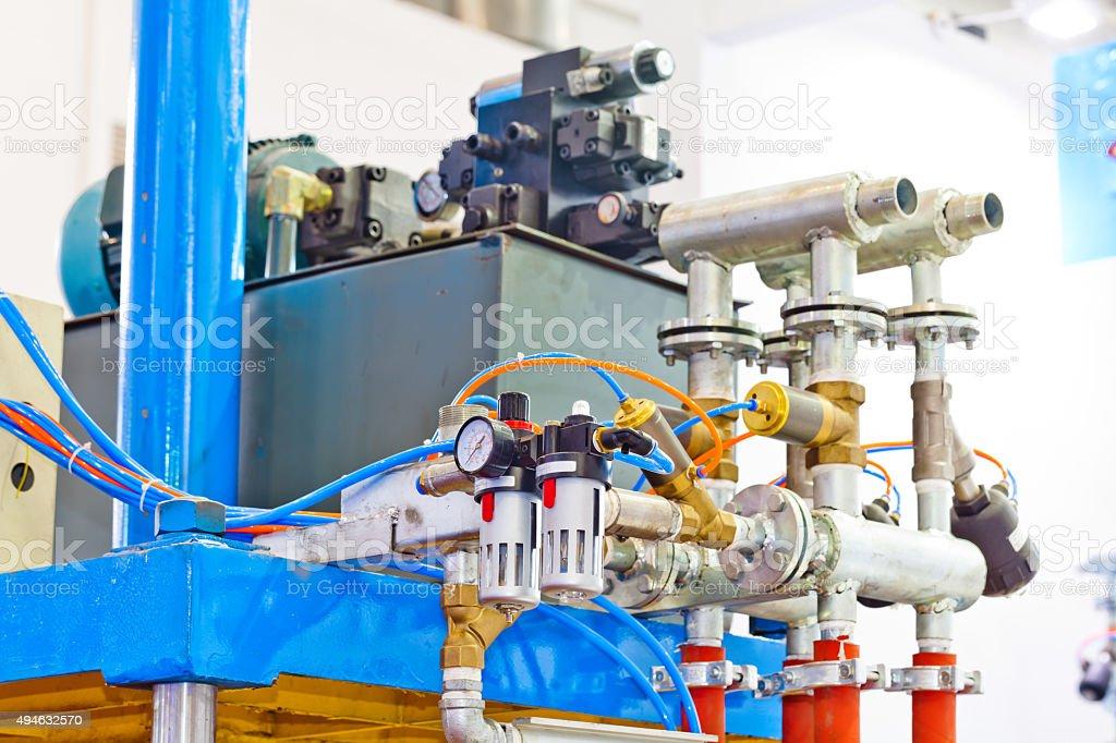 Hydraulic machinery stock photo