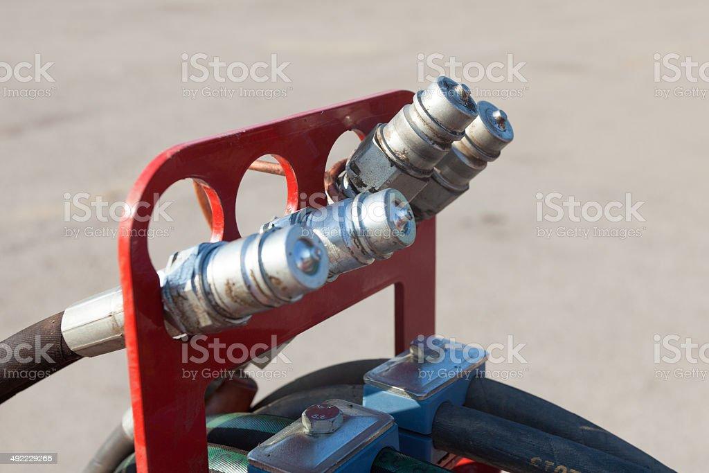 hydraulic parts stock photo