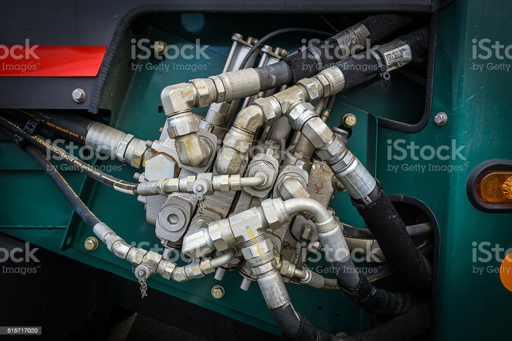 Hydraulic Pipes stock photo
