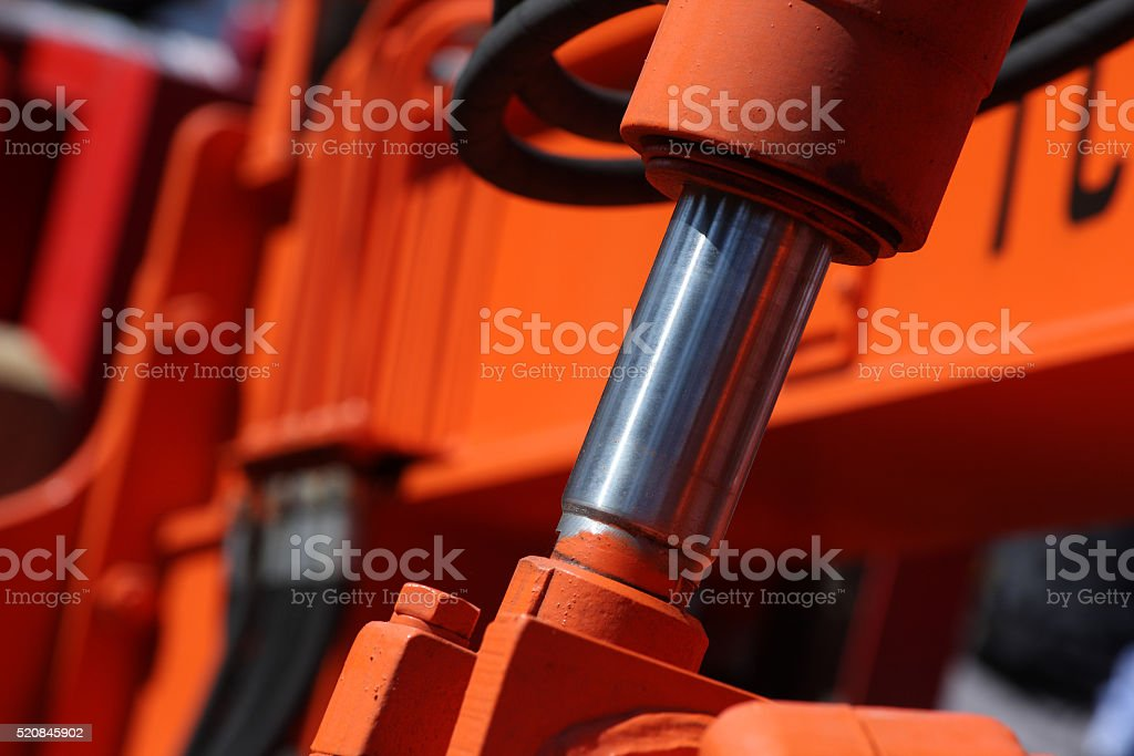 Hydraulic piston. stock photo