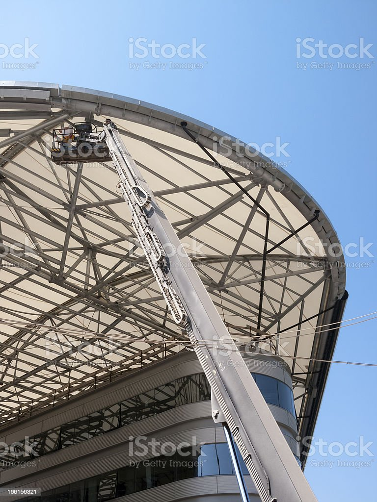 Hydraulic Platform And Roof royalty-free stock photo