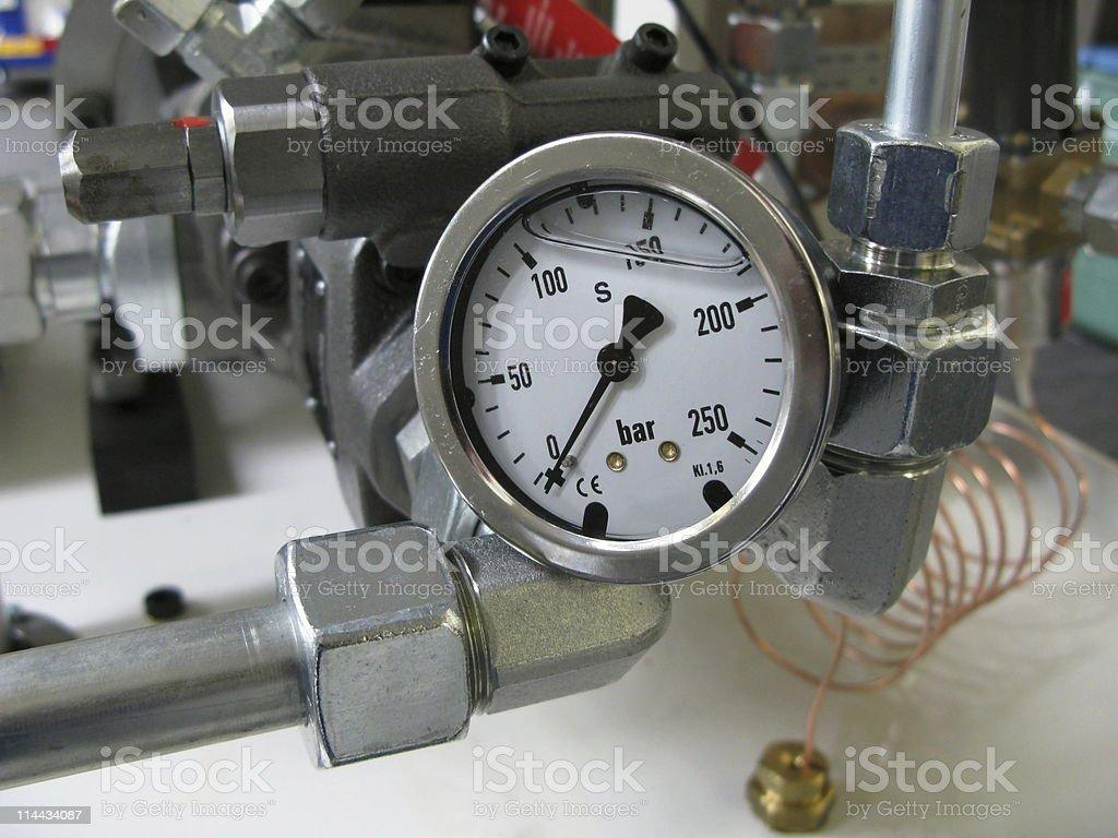 Hydraulic Preasure Indicator,  Manometer - Druckmessgerät royalty-free stock photo