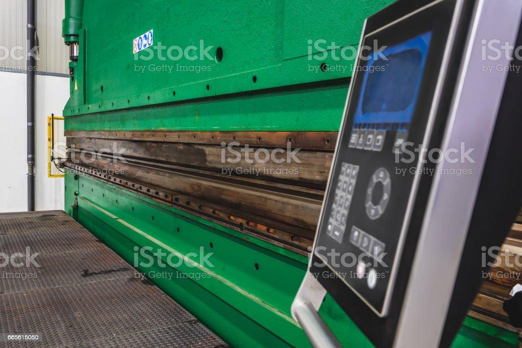 Hydraulic Press Brakes control panel stock photo