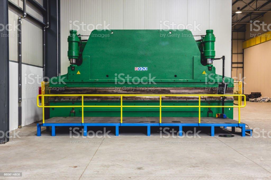 Hydraulic Press Brakes stock photo