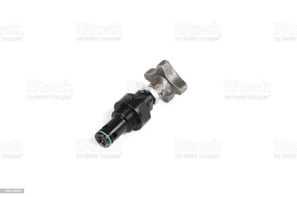 Hydraulic throttle valve royalty-free stock photo