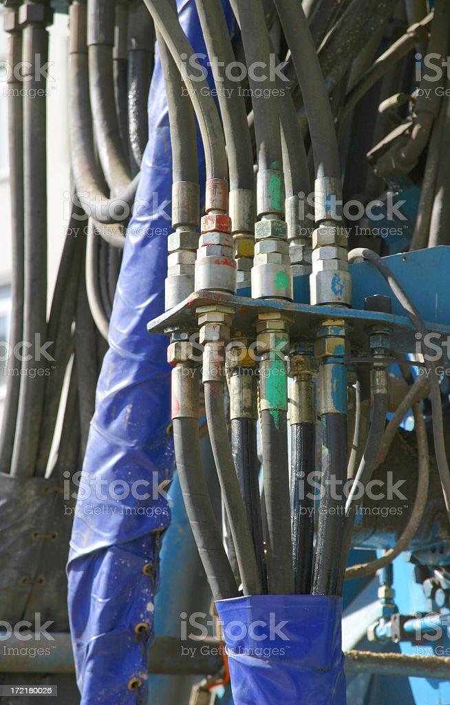 hydraulic tubes stock photo