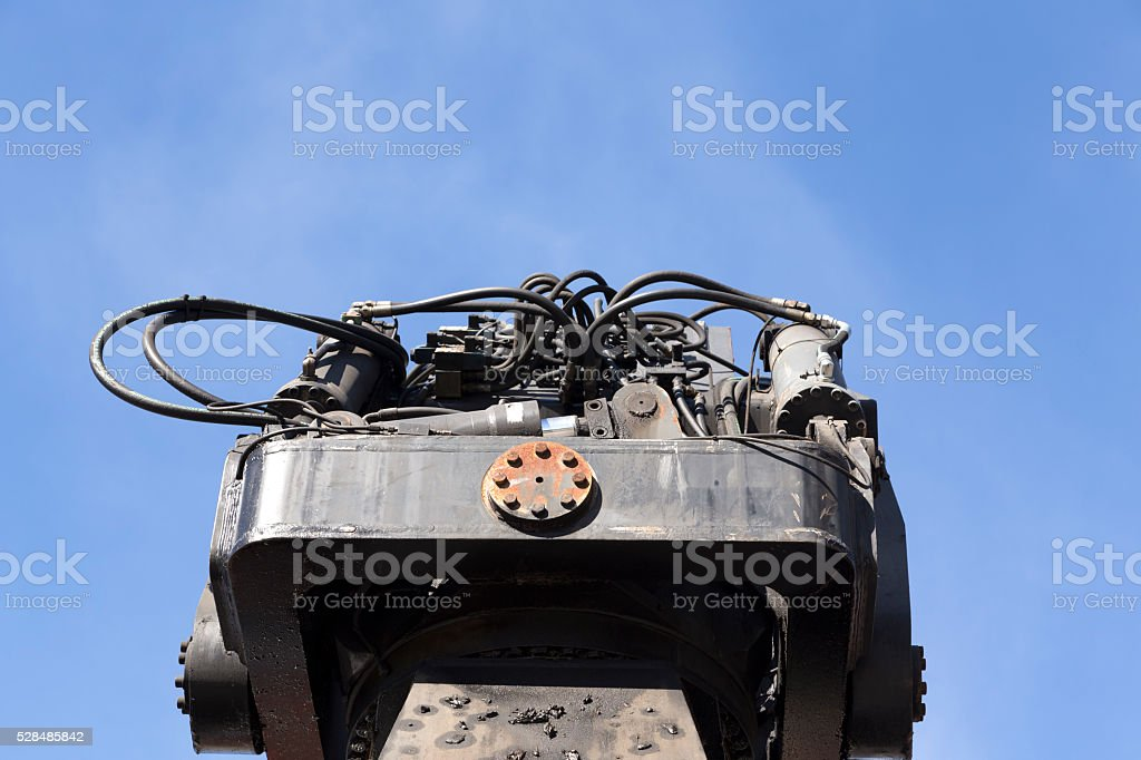 Hydraulics in the sky stock photo