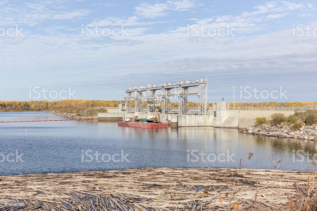 hydro dam stock photo