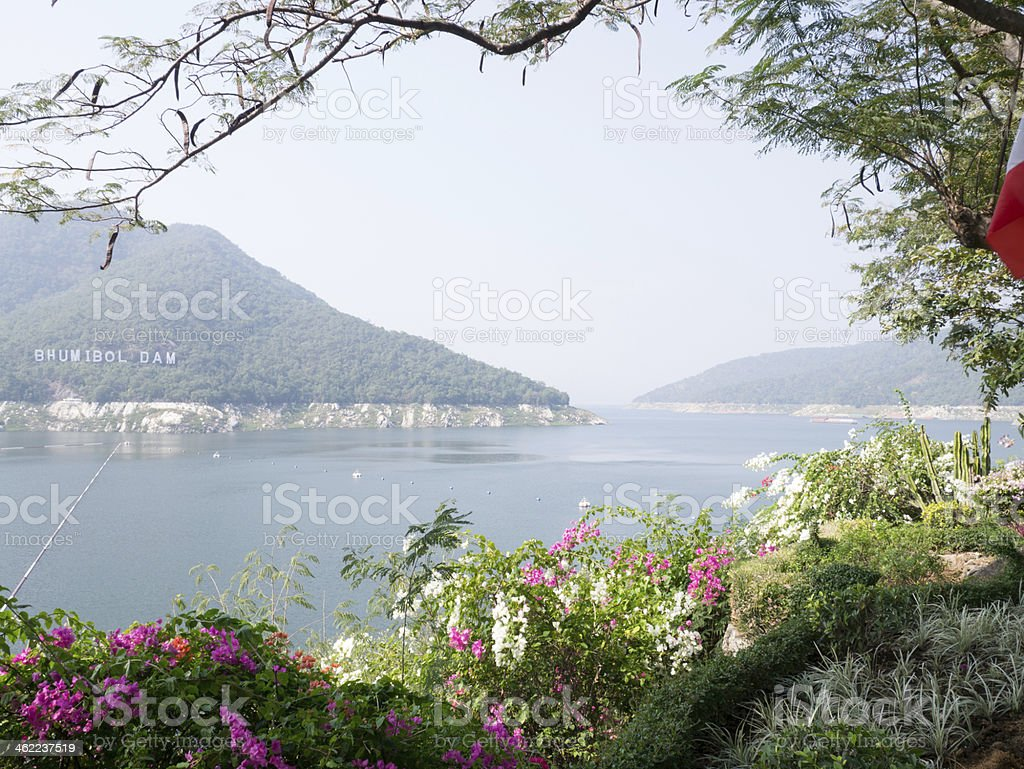 hydro electric bhumibol dam royalty-free stock photo