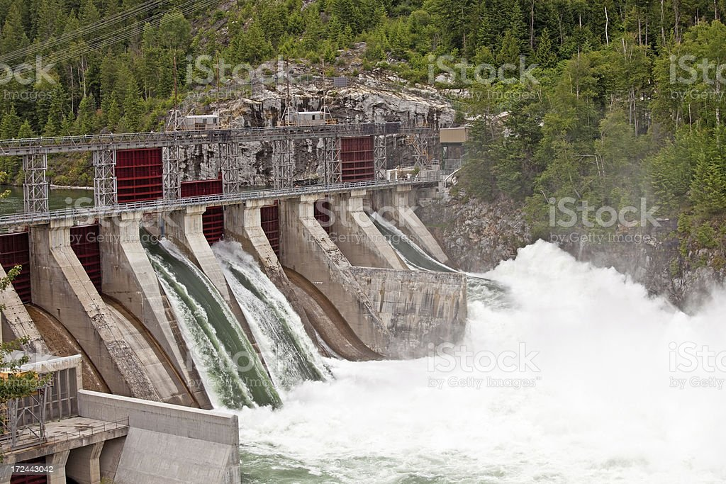 Hydro Electric Power Dam royalty-free stock photo