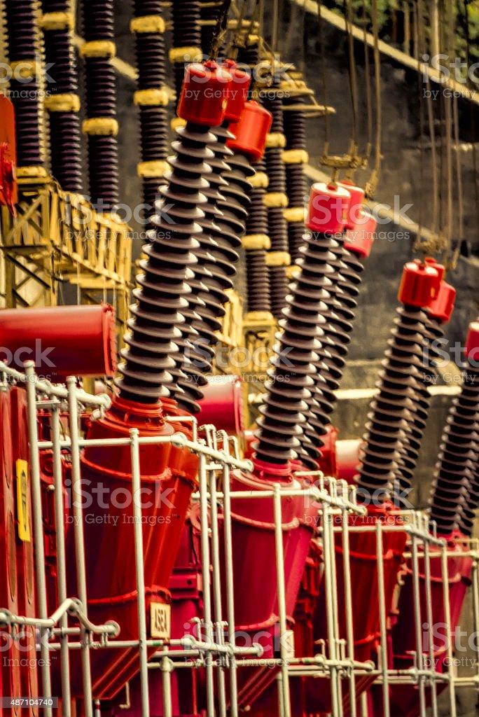 Hydro Electric Power Generators stock photo