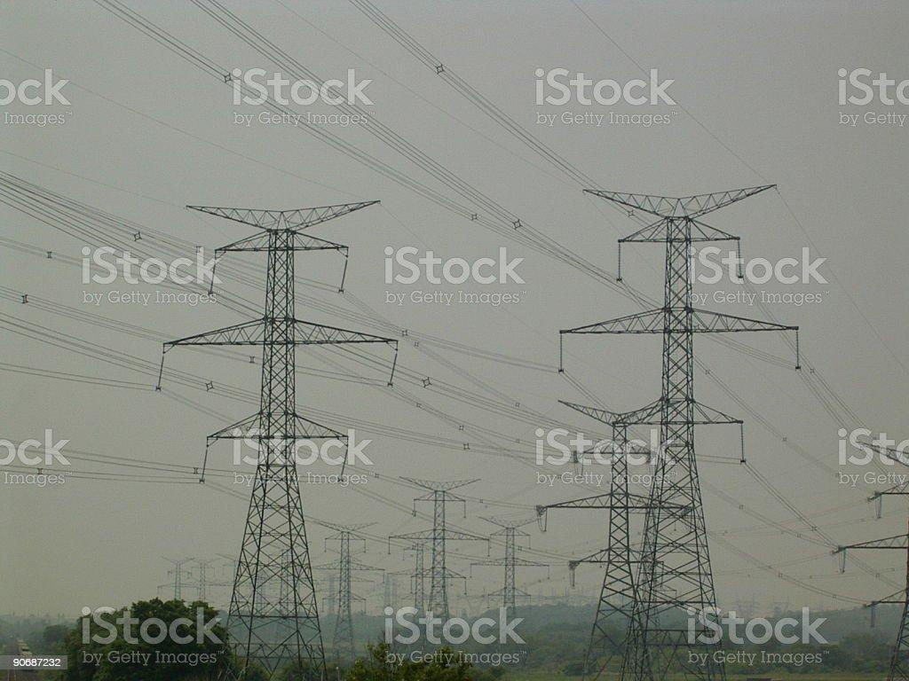 Hydro électrique Towers photo libre de droits