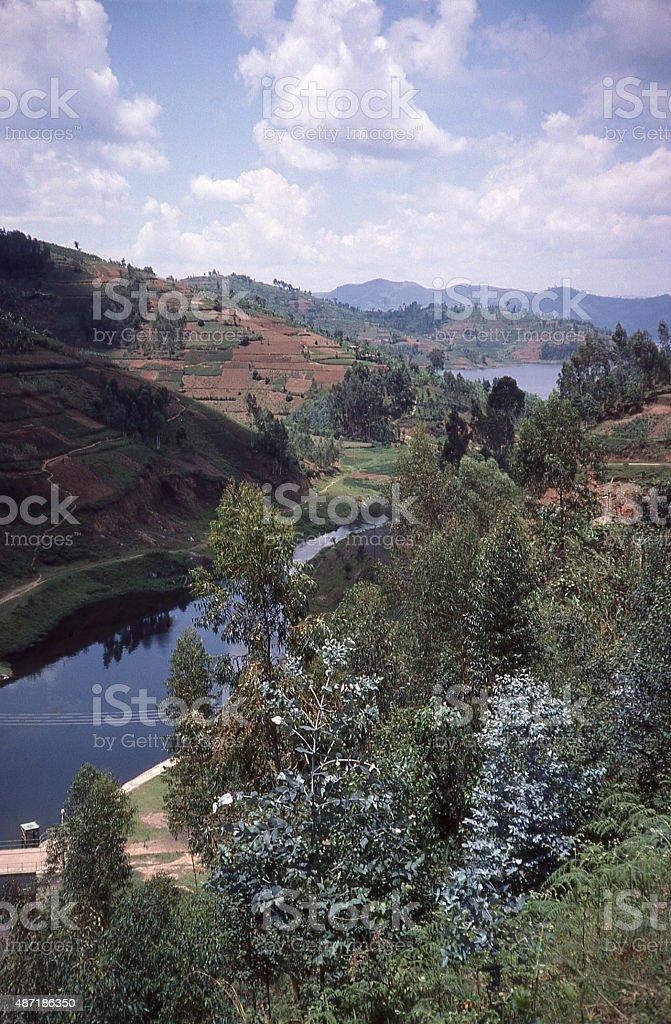 hydro generation plant Lake Ruhondo and Burera Rwanda Central Africa stock photo