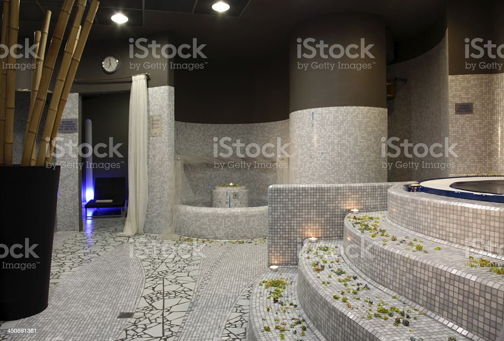 hydro massage and relaxation area royalty-free stock photo