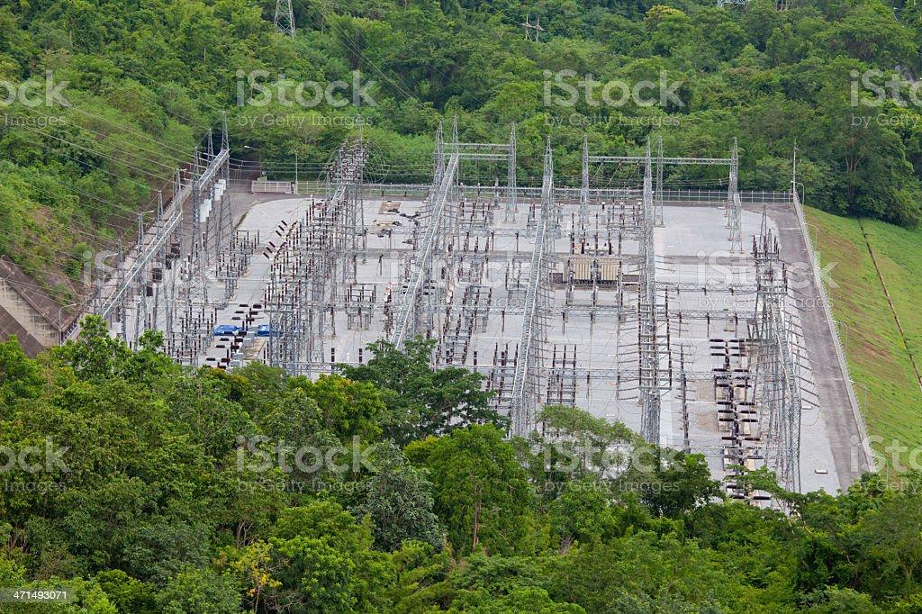 Hydro Power Electric Dam royalty-free stock photo