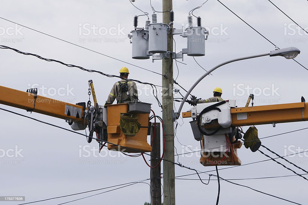Hydro team at work royalty-free stock photo