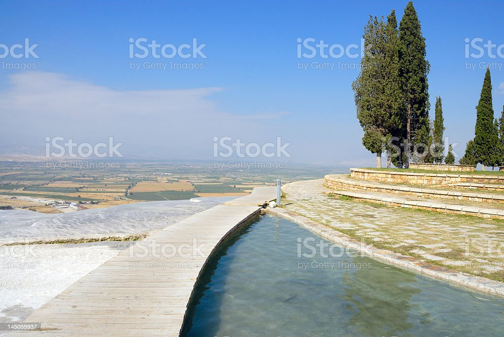 Hydrochloric source in Pamukkale stock photo