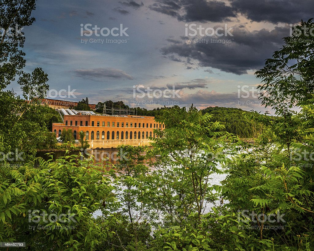 Hydroelectric Central stock photo