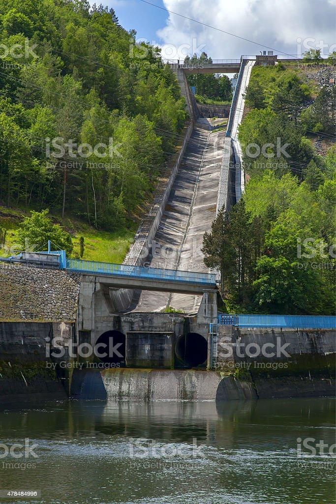 Hydroelectric dam in the Czech Republic stock photo