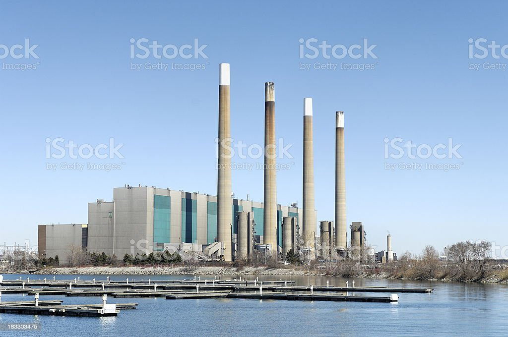 Hydro-Electric Generating Plant royalty-free stock photo