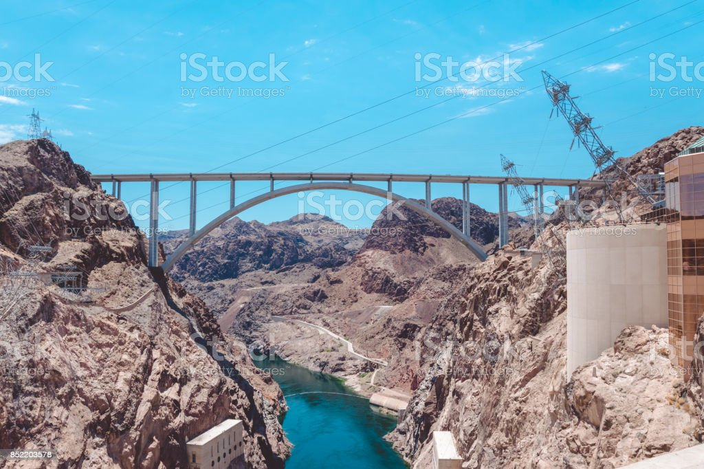 Hydroelectric plant on the Colorado River. Hoover Dam stock photo