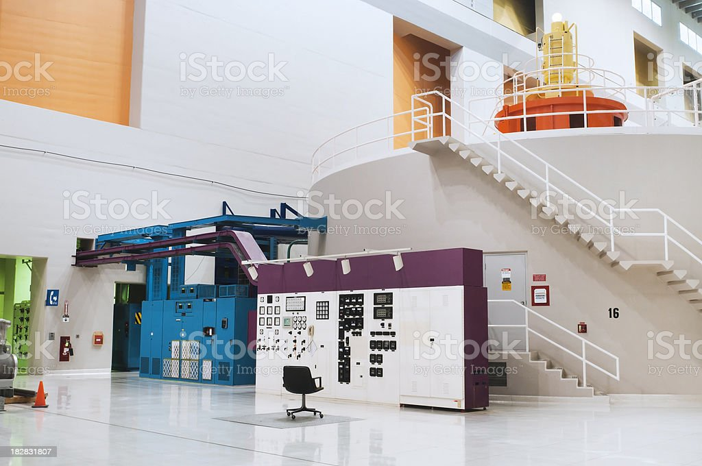 Hydro-electric Power Generator and Control Center royalty-free stock photo