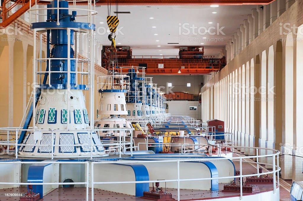 Hydro-electric Power Generators stock photo