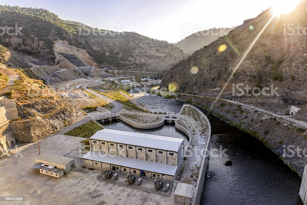 Hydroelectric power plant royalty-free stock photo