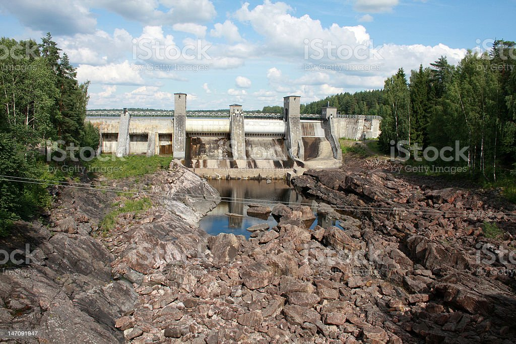 Hydroelectric power station in Imatra - Imatrankoski, Finland. royalty-free stock photo