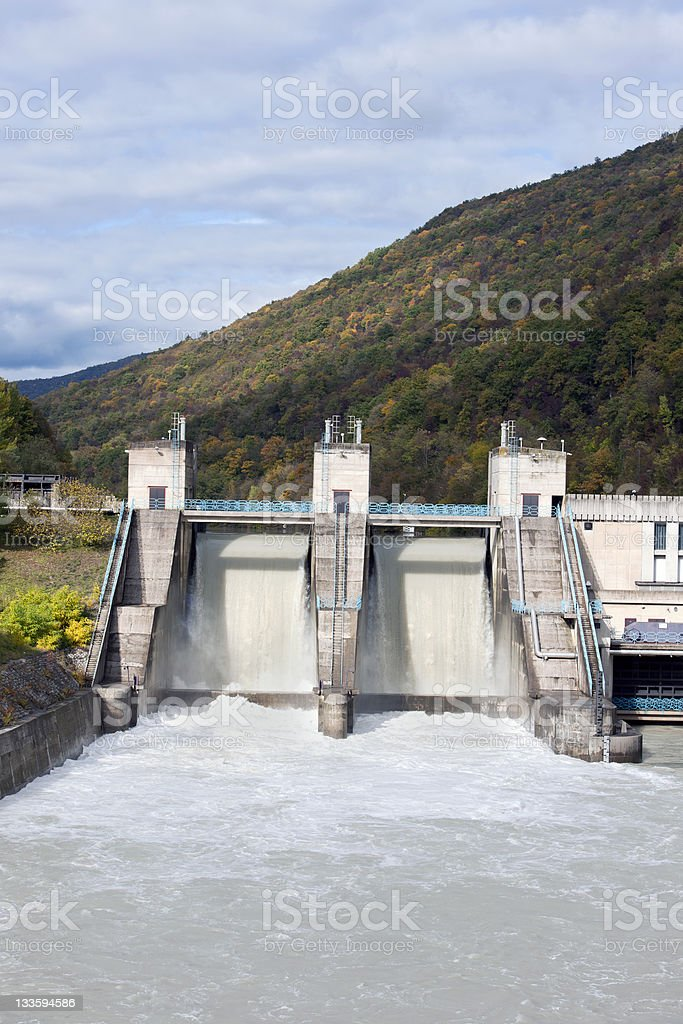 Hydroelectric Power Station in Slovenia royalty-free stock photo