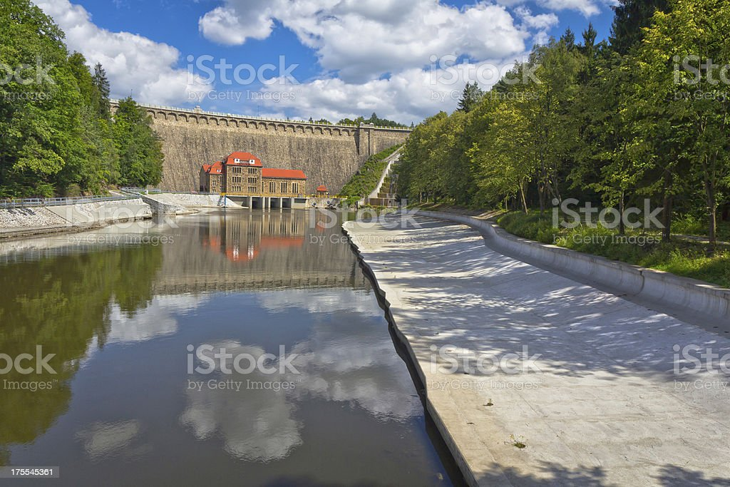 Hydroelectric Power Station in the Kaczawskie Mountains royalty-free stock photo