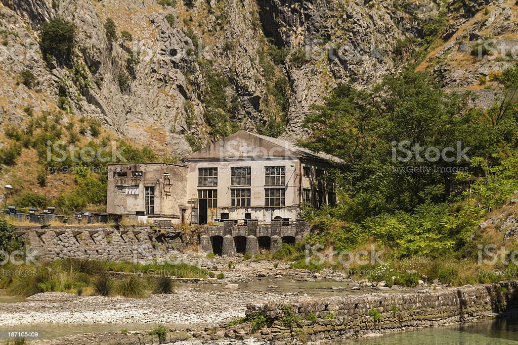 Hydroelectric power station stock photo