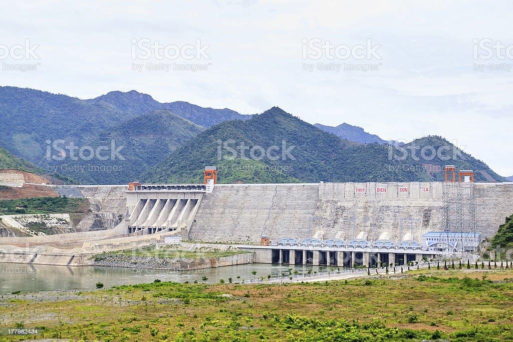 Hydroelectric powerplant royalty-free stock photo