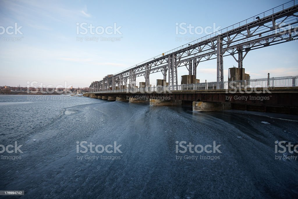 Hydroelectric pumped storage power plant royalty-free stock photo